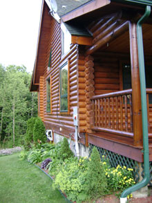 Log Home Staining And Sealing High Country Restoration