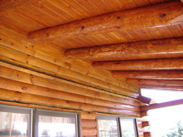 Log Home Freshly Stained